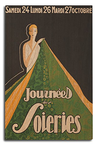 Journees des Soieries Vintage Poster France c. 1934 (10x15 Wood Wall Sign, Wall Decor Ready to Hang) Journee Accent