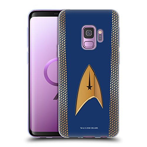 Official Star Trek Discovery Command Uniforms Soft Gel Case for Samsung Galaxy S9 ()