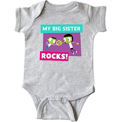 inktastic Big Sister Infant Creeper 12 Months Heather Grey - PBS Kids (1930 Registered)