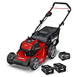 Snapper XD 82V MAX Cordless Electric 19-Inch Lawn Mower Kit with (2) 2.0 Batteries and (1) Rapid Charger