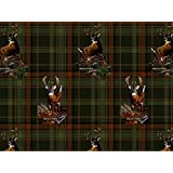 REALTREE FLANNEL FABRIC SOLD BY THE YARD-REAL TREE COTTON FLANNEL FABRIC-REALTREE PLAID FLANNEL