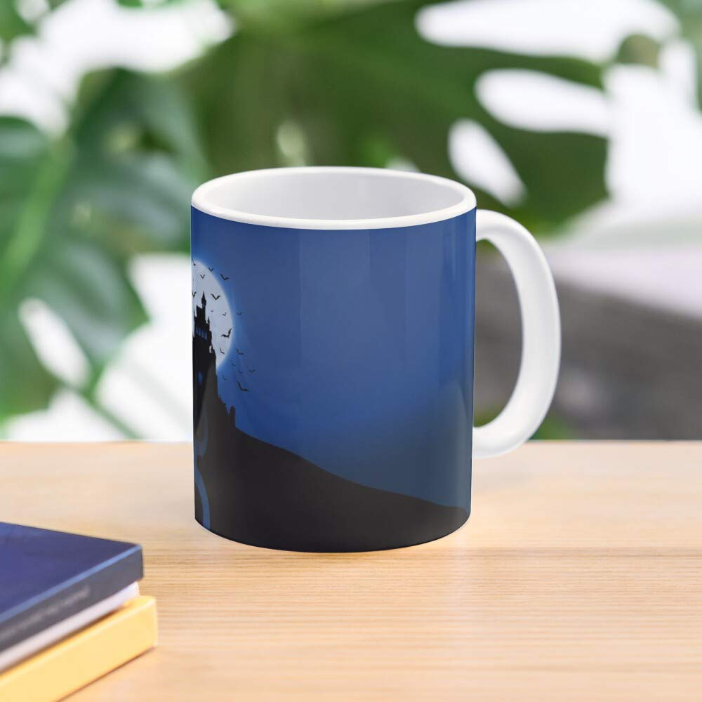 Halloween Dracula Castle Mug Best 11 Ounce Ceramic Coffee Mug Gift