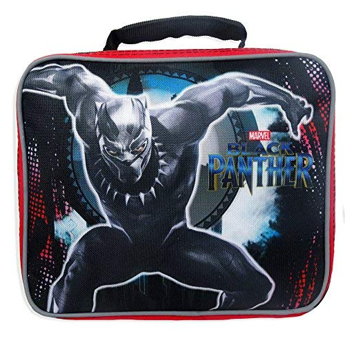 (Marvel Black Panther Lunch Box - Marvel Black Panther Cordura School Lunch Kit)