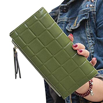 Amazon.com: Lannmart Women Wallets Square Long Purse Double ...