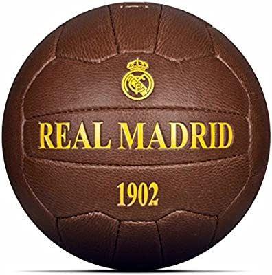 Real Madrid C.F. Balon HISTORICO Real Madrid: Amazon.es: Deportes ...