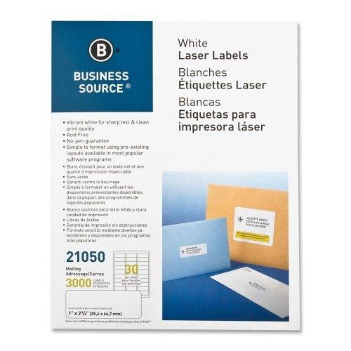 Business Mailing Labels - Business Source 21050 Mailing Label, Laser, 1