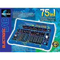 Elenco 75-In-1 Electronic Project Lab Kit With White Earbud Headphones