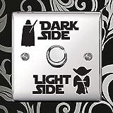 Dark Light Side Switch Vinyl Decal Sticker Child Room Lightswitch Wall by Inspired Walls