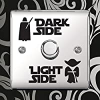 Dark Light Side Switch Vinyl Decal Sticker Child Room Lightswitch Wall by Inspired Walls®