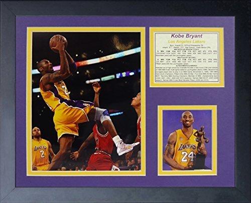 """Legenden Sterben Nie """"Kobe Bryant Gold Jersey"""" gerahmtes Foto Collage, 11 x 35,6 cm von Legends Never Die"""