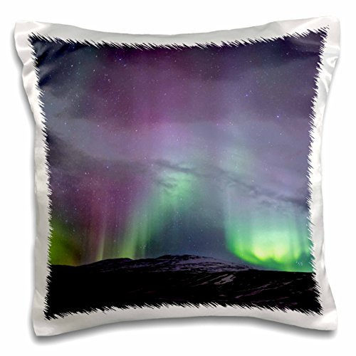 Light Bath 1 Ripple (3dRose Danita Delimont - Northern lights - Europe,Iceland, Akureyri. Northern Lights ripple across the sky. - 16x16 inch Pillow Case (pc_277515_1))