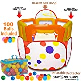 Kids Ball Pit Tent with 100 Crush Free Pit Balls Super Safe for Kids