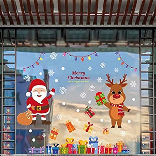 clacce Fensterbilder Abnehmbare Fensterdeko Statisch Haftende PVC Aufkleber für Weihnachts-Fenster Dekoration, Türen,Schaufenster, Vitrinen, Glasfronten