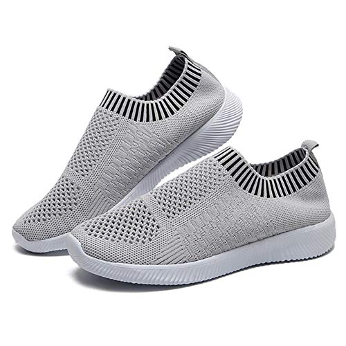 Gizayen Women Comfortable Walking Shoes Lightweight Mesh Breathable Slip on Athletic Sneakers, Sports Running Shoes…