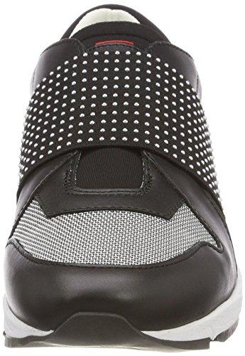 Hugo Uptown Asya-St, Sneaker Infilare Donna Nero (Black 001)