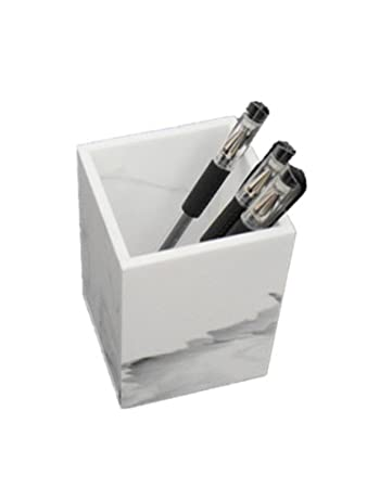 Toshine Acrylic Pencil Pen Holder Case Box With Fashionable Modern Design, Office Classroom Home Desktop