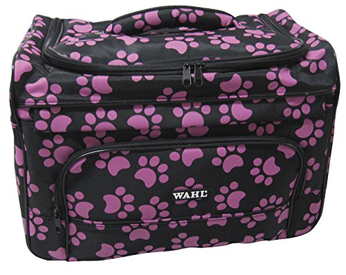 Wahl Professional Animal Travel Tote Bag with Zipper, Berry Paw Print Design (#97764-400) ()