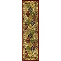 Safavieh Lyndhurst Collection LNH221B Multi and Red Runner, 2 feet 3 inches by 14 feet (23 x 14)