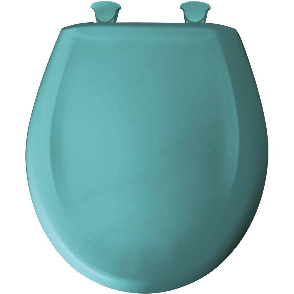 Bemis 200SLOWT 465 Lift-Off Plastic Round Slow-Close Toilet Seat, Classic Turquoise