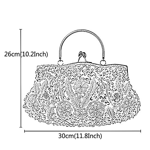 Womens Beaded Handbag Pearl Brown Bridal Glitter Bags Bag For Ladys Clutch Pearl Beaded Bag Sequin Fashion Evening Bag Clutch SErRBE