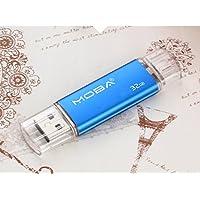 Aller 32GB Dual USB Flash Drive U Disk - Blue