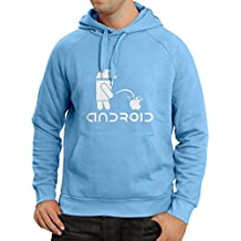 lepni.me Hoodie The Funny Robot and The Apple - Geek Humorous Gifts