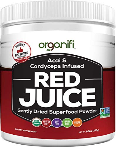 Organifi: Red Juice - Organic Superfood Supplement Powder - 30 Day Supply - Organic, Boosts Metabolism, and Reverses The Signs of Aging-Parent