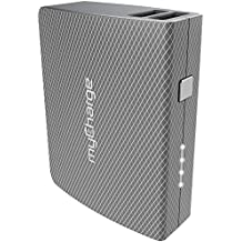myCharge AmpPlus Portable Charger 4400mAh/2.4A Output External Battery Pack with Dual USB Ports and Integrated Recharge Cable for Smartphone, Tablet and USB Devices (iPhone, iPad, Samsung Galaxy)