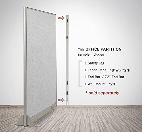 Gof Wall Mount For 72 Quot Height Office Partition Full