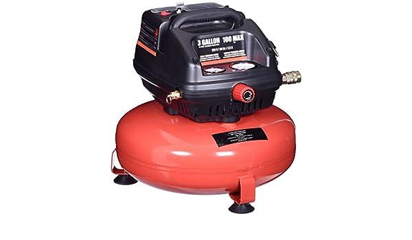 Amazon.com : Gymax 3 Gallon 100 PSI Oil-Free Pancake Air Compressor 0.5 HP Motor Portable : Garden & Outdoor