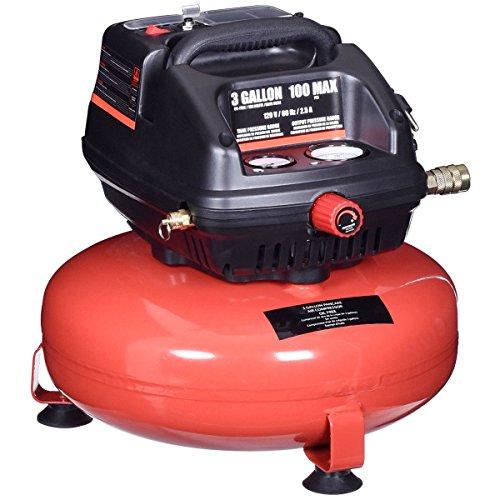 Goplus Oil-Free Air Pancake Compressor Portable Quiet (3 Gallon 100 PSI 0.5HP Compressor) - Light Duty Air Compressor