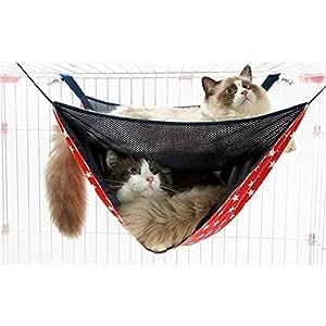 Nuanxin Mascota Gato Hamaca, Jaula Hamaca, Tela De Malla ...