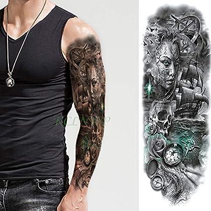 Etiqueta engomada del tatuaje temporal impermeable león brazo ...