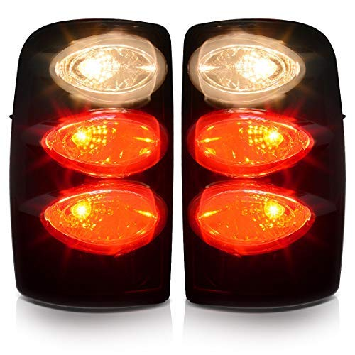 Tail Lamp for GMC Yukon 2000-2006 LED Tail Lights for Chevy Suburban Tahoe 2000-2006 Black Clear Replacement Assembly DO NOT FIT DOUBLE DOOR or BARN DOOR MODELS//WILL ONLY FIT LIFT GATE MODELS XL