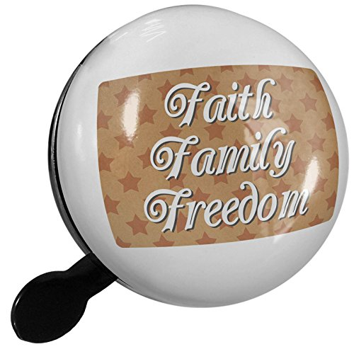 Small Bike Bell Faith Family Freedom Fourth of July Kraft Stars - NEONBLOND by NEONBLOND