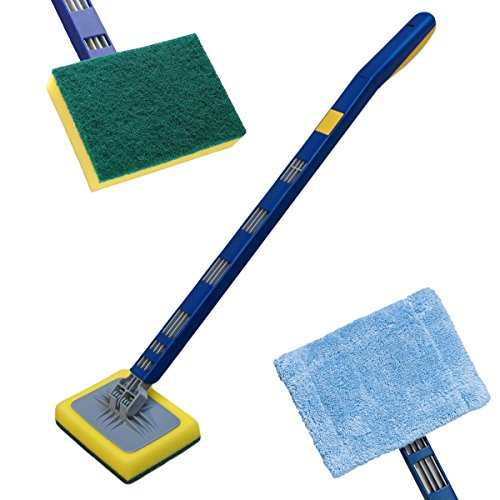 KCT Handheld Household Telescopic Cleaner with Interchangeable Head