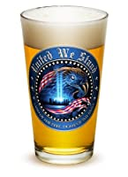 Pint Glasses – American Hero's Gifts for Men or Women – American Beer Glassware – United We Stand Beer Glass with Logo (16 Oz)