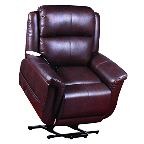 Serta Perfect Lift Chair; This Wall Hugger Recliner Plush Comfort Recliner includes Gel-Infused Foam. The Hand Control with 2 Large LED Buttons and USB Charging Port(Java 870)
