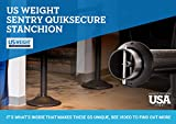 US Weight Sentry QuikSecure Stanchion with Safety