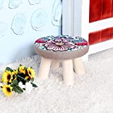 STJK$BMJW Stool Solid Wood On A Low Stool Fabrics To Remove Wash Tea Lounge In Children'S Shoes Bedrooms Are Small Round Stool High-20Cm Flowers