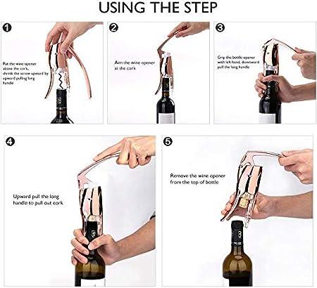 yywl - Sacacorchos y abridor de Botellas de Vino Personalizado