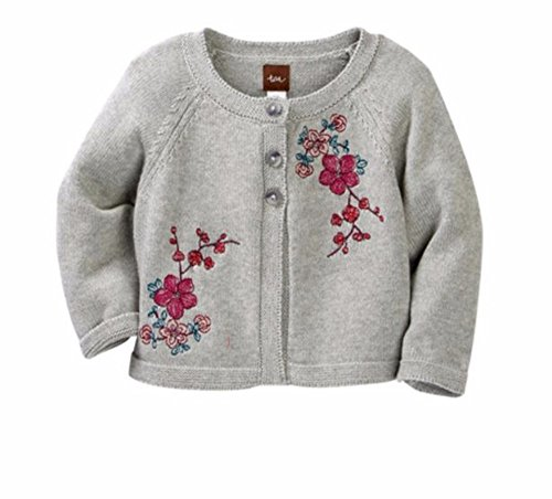 Tea Collection Baby Girls' Embroidered Cardigan-Size ()