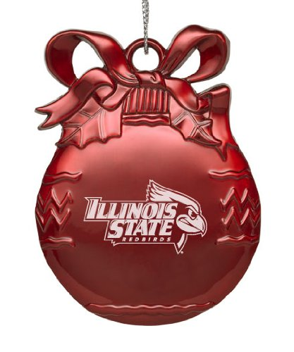 Illinois State Tree (Illinois State University - Pewter Christmas Tree Ornament - Red)