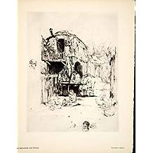 1930 Heliogravure Auguste Brouet Drageoir aux Epices Huysmans Poetry Book Art - Original Heliogravure