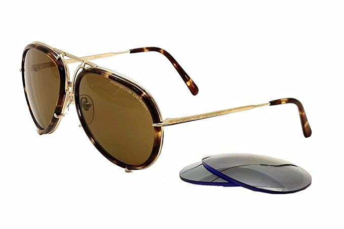 Porsche Extra 61mm P'8613 Gold Design Sunglasses P8613 B Aviator W D9eIYbEHW2