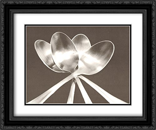 Spoons 2X Matted 16x14 Black Ornate Framed Art Print by Mike Feeley