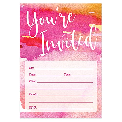 Bridal Shower Pack of 50 Fill-in Party Invitations with Envelopes Bachelorette Party Excellent Value Wedding Rehearsal Dinner Invitations VI0018