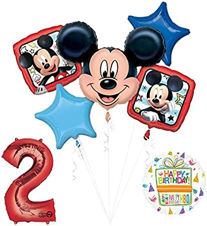 TWO 18 Mickey Mouse portrait foil balloon FAST SHIP party decoration
