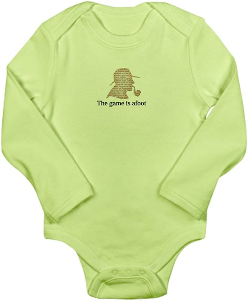 CafePress The Game is afoot Sherlock Holmes Baby Bodysuit