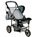 Mommy & Me Boy Doll Stroller with Adjustable Handles & Free Carriage Bag